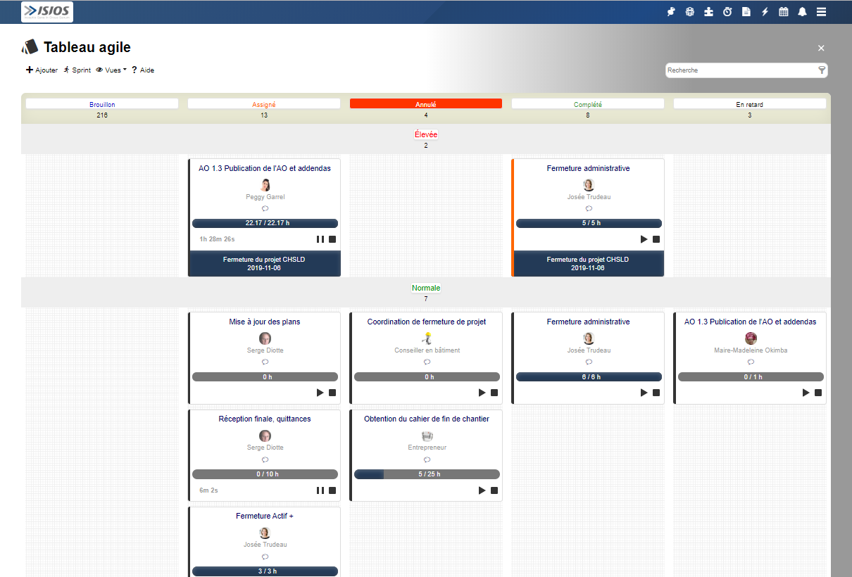 Screenshot Agile board